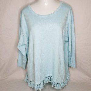 Talbots Womens Size 2X Blue Cotton Cashmere Blend